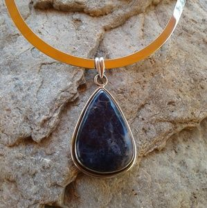 Jewelry - Sterling silver Sodalite Gemstone Collar NECKLACE
